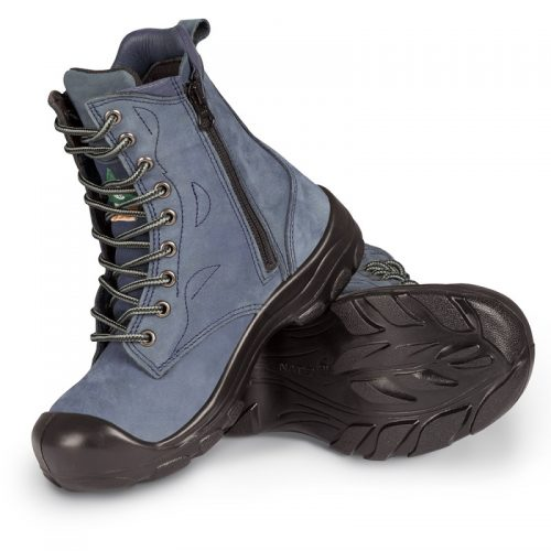 Navy womens steel toe work boots S558