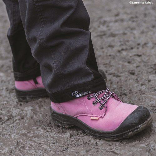 Pink Women's steel toe work boots