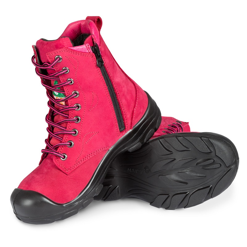 Womens Leather Steel Toe Work Shoes