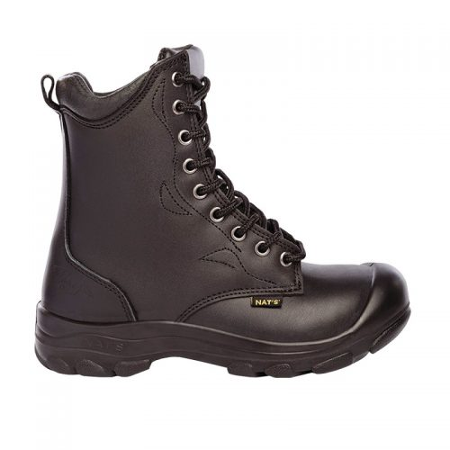 Womens steel toe work boots, black colour