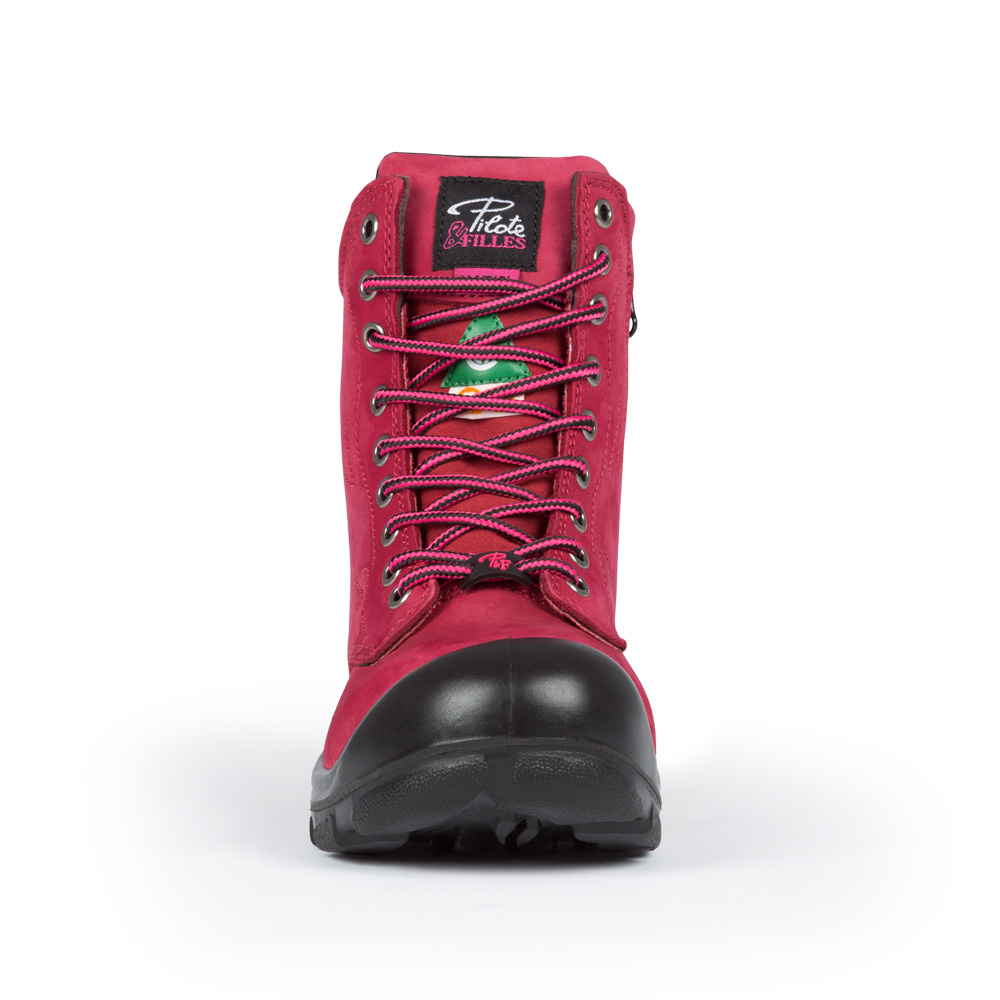 Steel Toe Work Boots For Women With Zipper Csa Approved