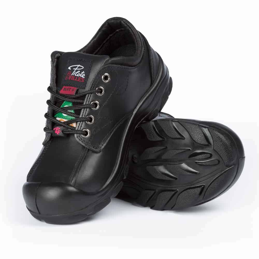 8d35616f878 Women's steel toe safety shoes | Black | S557