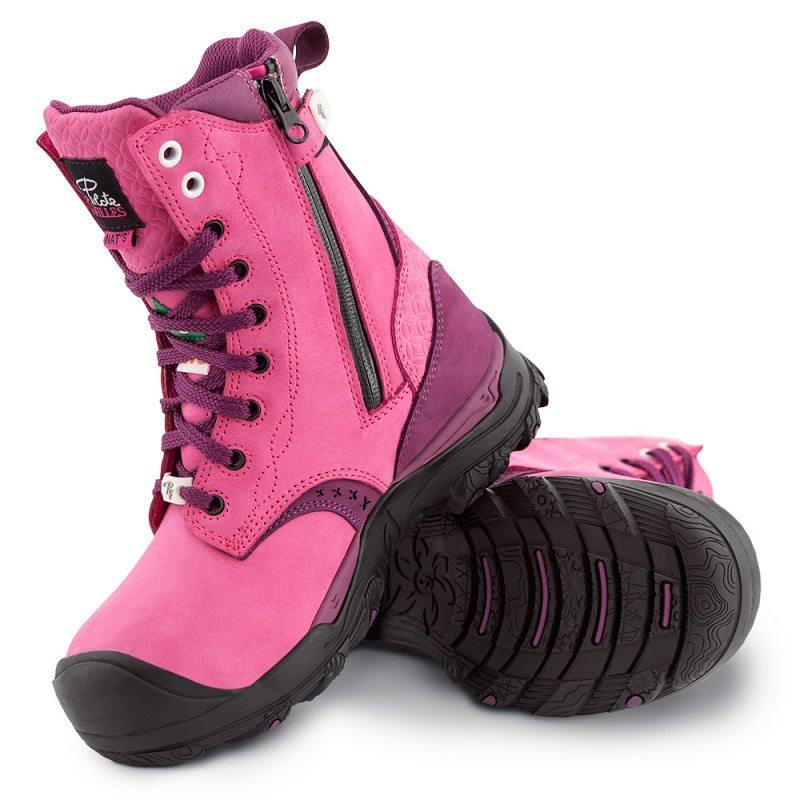 Women's steel toe work boots