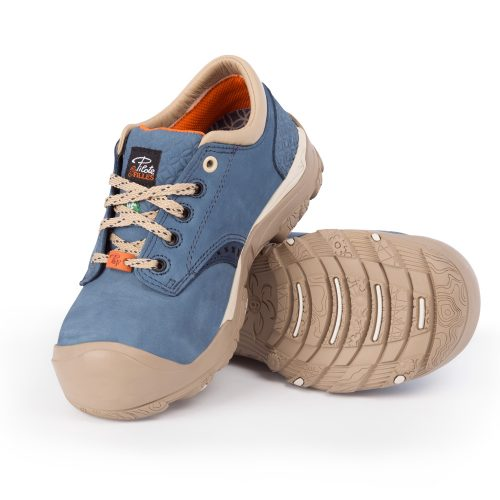 Womens steel toe safety shoes, blue colour