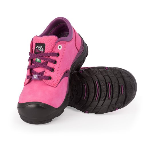 Womens steel toe safety shoes, pink colour