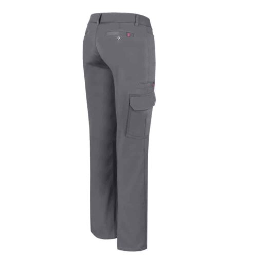 Grey Stretch cargo work pant for women – PF820