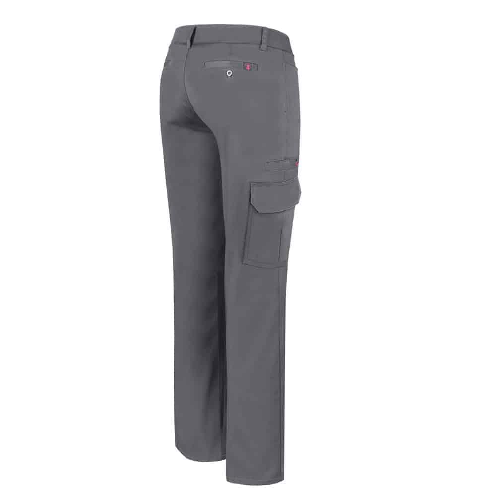 Grey Stretch cargo work pant for women – PF820