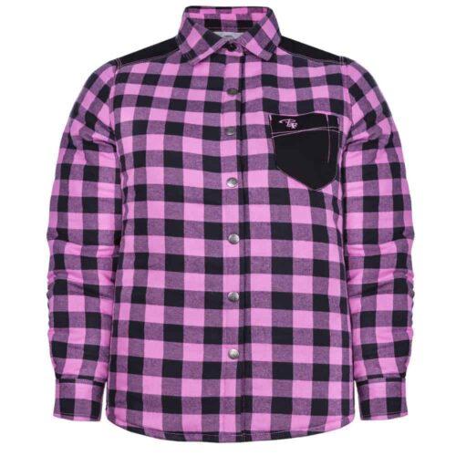 Padded plaid shirt – PF410 - Pink