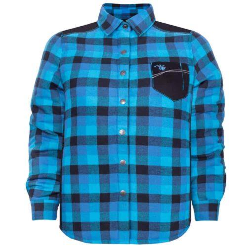 Padded plaid shirt – PF410 - Blue