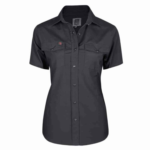 Womens work shirt, short sleeves